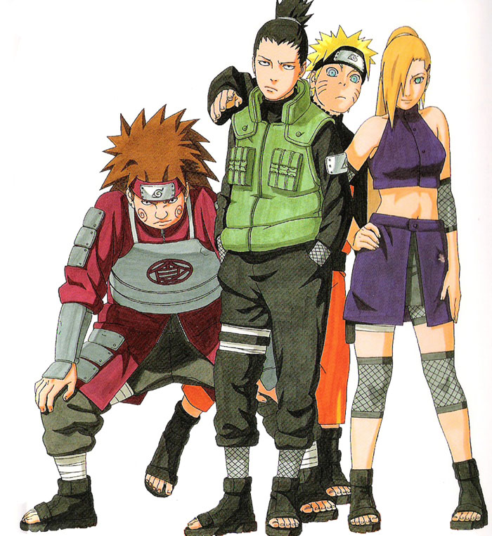 Teenage Naruto and friends