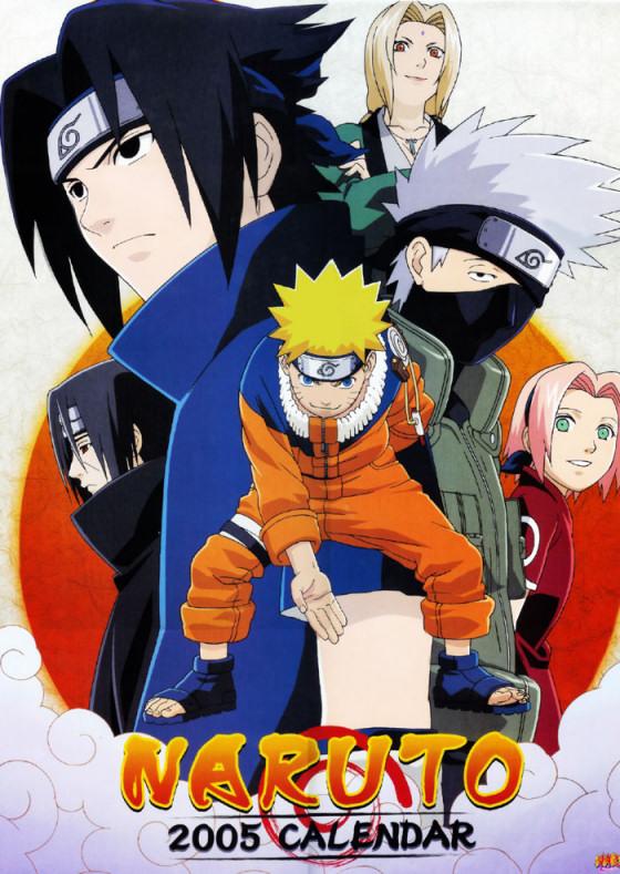 2005 Naruto Calendar Cover