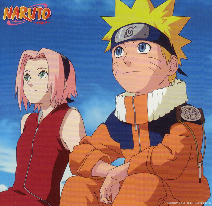 Naruto and Sakura watch the sunset