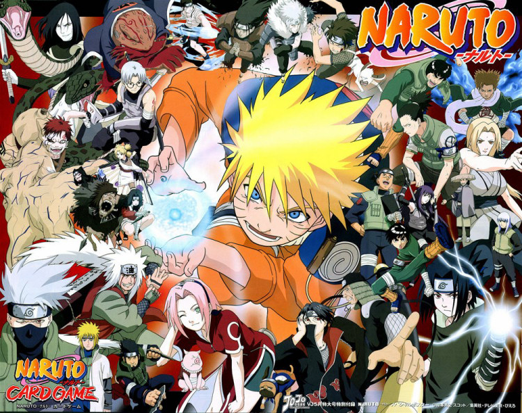 all the naruto characters are in this image