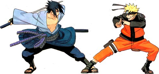 Teenage Naruto and Sasuke spare