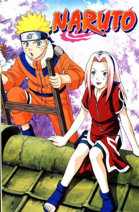 Naruto meets Sakura on the roof
