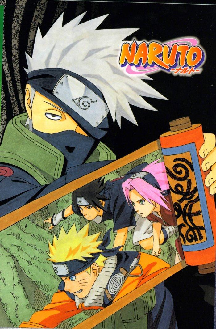 Kakashi holds the scroll