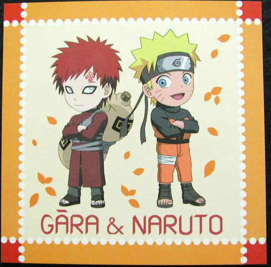 Gaara and Naruto as chibi