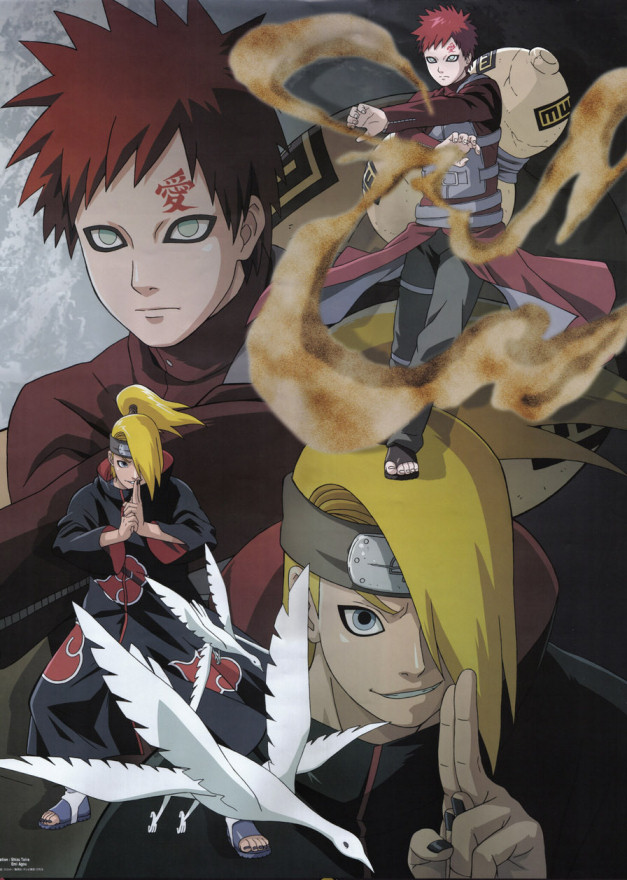 Gaara controls the sand