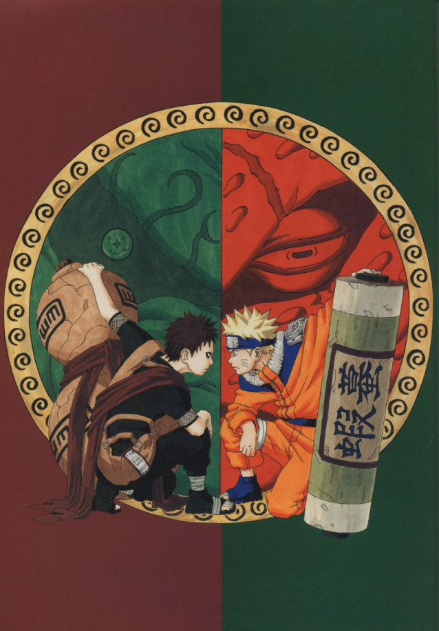 Gaara and Naruto face-off