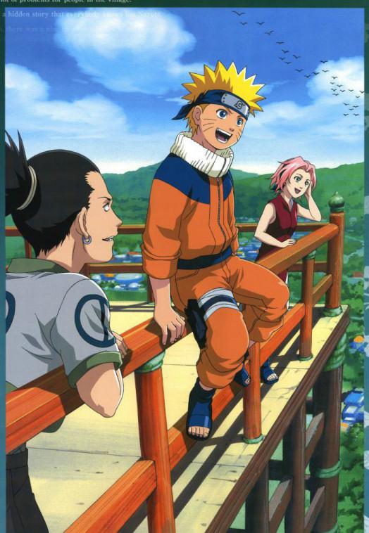 Shikamaru dares Naruto to jump!!