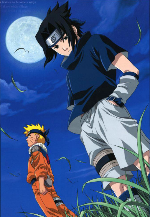 Nartuo and Sasuke in the moon light