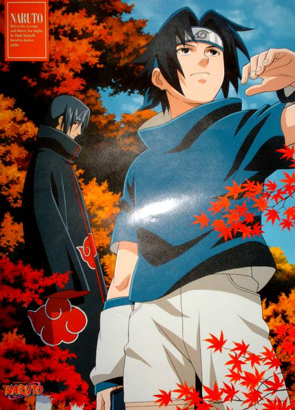 Sasuke and Itachi in the woods